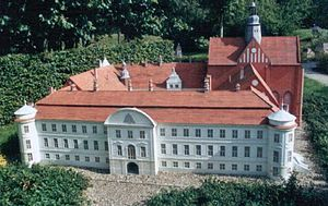 Dargun Palace - Model of the undestroyed palace and abbey complex of Dargun