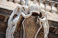Sculptural elements decorating Hôtel de ville de Marseille facade. Marseille, Provence-Alpes-Côte d'Azur, Southeastern France , Western Europe