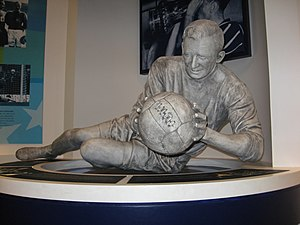 History of Manchester City F.C. (1928–65) - Former Nazi paratrooper Bert Trautmann – initially despised in Britain but soon entered gained huge popularity with his brave saves which resulted a broken neck in the 1956 FA Cup Final, somehow Trautmann managed to play the last 15 minutes of the match