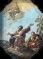 Scuola Grande dei Carmini - Sala dell'Archivio - La Vergine appare al profeta Elia sul monte Carmelo - Giustino Menescardi.jpg