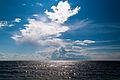 Seabord of Gulf of Finland Summer sky Komarovo, St Petersburg, Russia.jpg