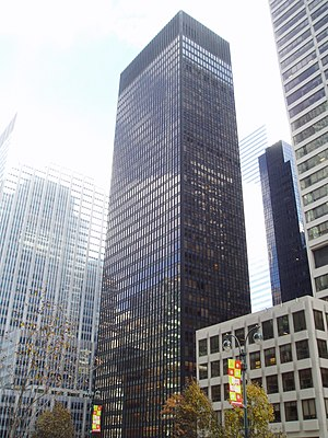 1958 in architecture - Seagram Building by Ludwig Mies van der Rohe