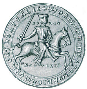 John I, Count of Holstein-Kiel - Seal of John I, from the period 1247-1259