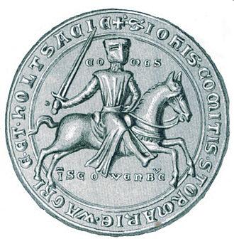 John I, Count of Holstein-Kiel - Seal of John I, from the period 1247-1259