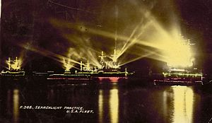 1908 in Australia - Great White Fleet in Sydney Harbour, 1908