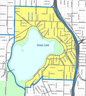 Green Lake (Seattle) - Map of Green Lake