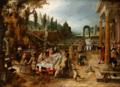 Sebastian Vrancx - An outdoor banquet.tiff