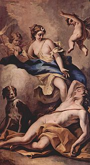 Sebastiano Ricci's depiction of Selene and Endymion.