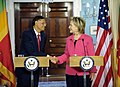 Secretary Clinton Shakes Hands With Sri Lanka Minister of External Affairs G.L. Peiris (4650389565).jpg