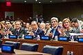 Secretary Kerry Applauds Alongside Ambassador Power Ban Ki-moon Isaac Herzog and Danny Danon Before Delivering Speech at U.N. Herzog Commemoration in New York (22767618560).jpg