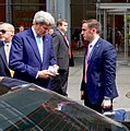 Secretary Kerry Confers With His Aide Following an Editorial Board Meeting at the New York Times Headquarters (25978766623) (cropped).jpg