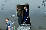 Secretary Kerry Disembarks From a C-17 Aircraft Upon Arrival in Baghdad (25701677753).jpg
