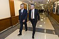 Secretary of Defense Chuck Hagel escorts Australian Minister of Defense Stephen Smith to a meeting at the Pentagon (2).jpg