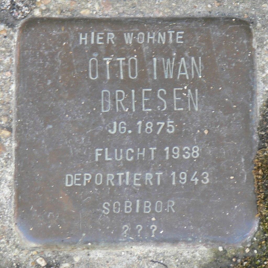 Segnitz Stolperstein Driesen, Otto Iwan.jpg