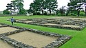 Excavated foundations of the Roman fort of Segontium