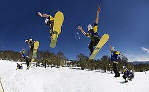 San Martín de los Andes - A snowboarder in Chapelco