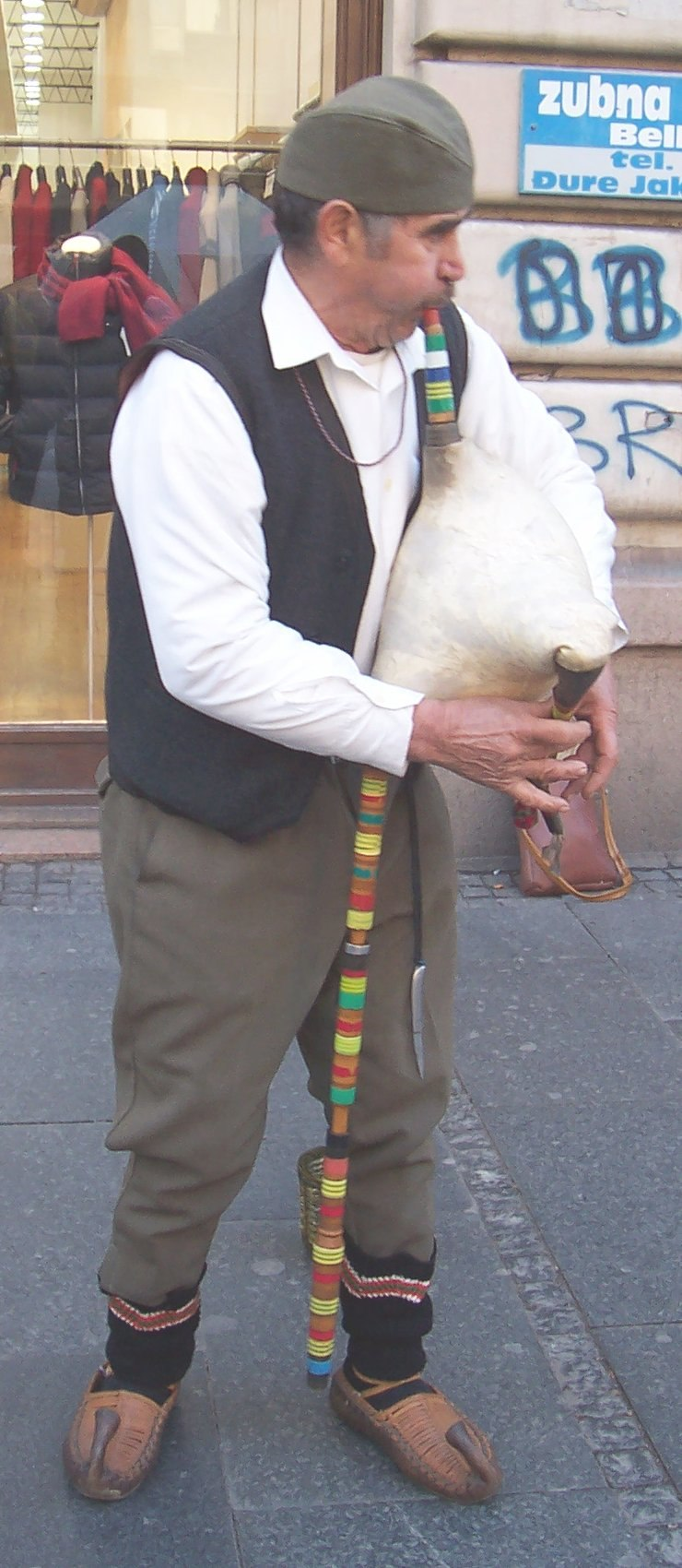 Serbian bagpiper