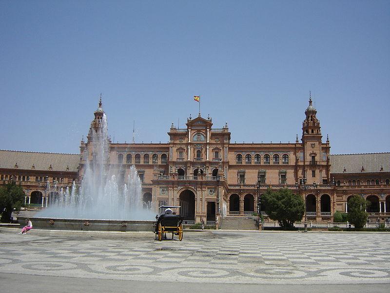 Image:Sevilla Plaza de Espana fuente.JPG