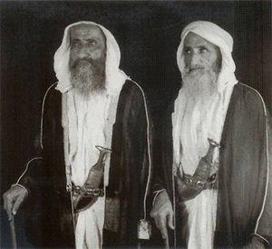 Saeed bin Maktoum bin Hasher Al Maktoum - Sheikh Juma bin Maktoum Al Maktoum (left) and Sheikh Saeed bin Maktoum Al Maktoum (right)