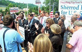 Sherrod Brown - Sherrod Brown at a campaign rally