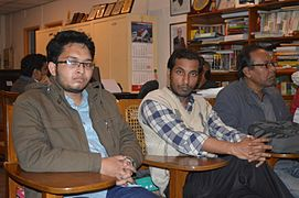 Shobuj Taposh with Bengali Wikipedians at BNWIKI12 celebration in Chittagong (03).jpg