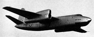 Short Sperrin - Short Sperrin in flight, 1956