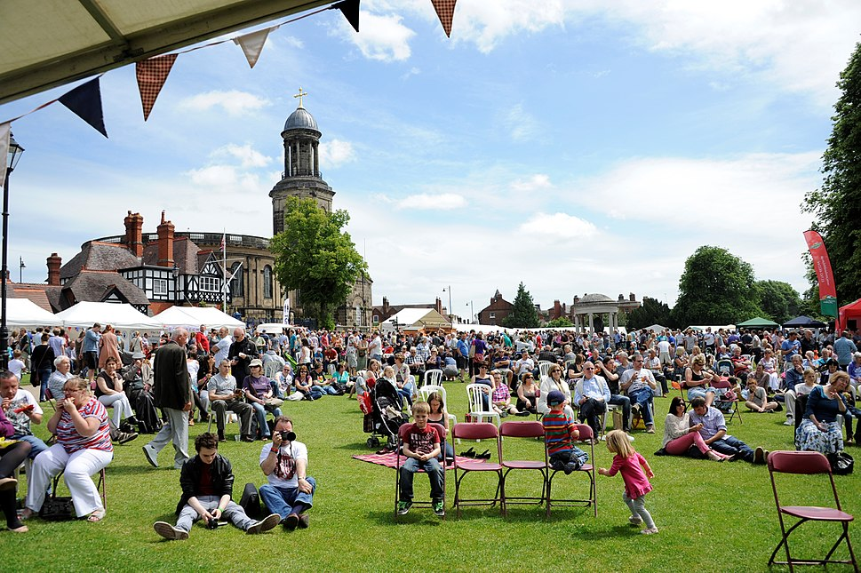Shrewsbury Food Festival Crowds