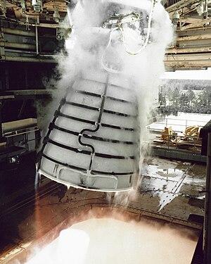 Space Shuttle main engine - SSME gimbal test