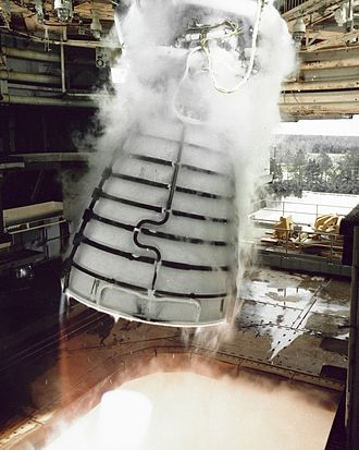 Space Shuttle main engine - SSME gimbal test