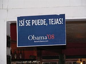 Sí se puede - Image: Si se puede, Tejas Obama
