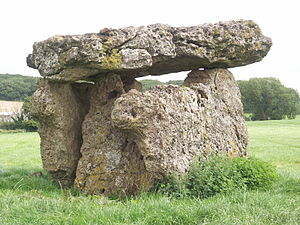 St Lythans burial chamber - St Lythans burial chamber, from the south west