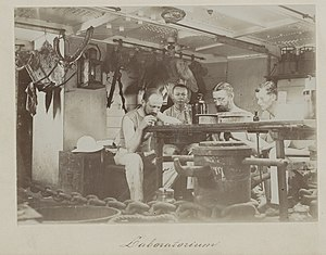 Max Carl Wilhelm Weber - Image: Siboga expedition group portrait in laboratory