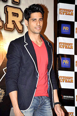 Siddharth Malhotra at the promo launch of 'Student Of The Year'.jpg