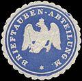 Siegelmarke Brieftauben-Abteilung M. W0337738.jpg