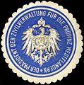 Siegelmarke Der Präsident der Zivilverwaltung für die Provinz Westflandern W0239447.jpg