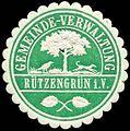 Siegelmarke Gemeinde-Verwaltung Rützengrün-Vogtland W0314303.jpg