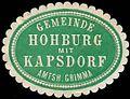 Siegelmarke Gemeinde Hohburg mit Kapsdorf - Amtshauptmannschaft Grimma W0252773.jpg