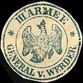 Siegelmarke General von Werder - III. Armee W0228043.jpg