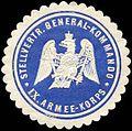 Siegelmarke Stellvertretendes Generalkommando IX. Armee - Korps W0238275.jpg