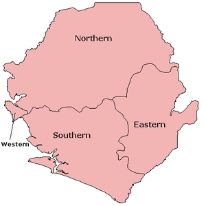 すべての講義 面積の単位 表 : Sierra Leone Provinces