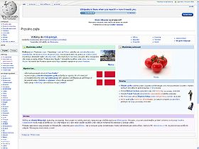 The Main Page of the Polish Wikipedia (06.12.2009).