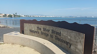Silver Strand (San Diego) - Sign at the north end of Silver Strand.