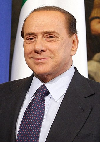 Silvio Berlusconi, longest-serving post-war Prime Minister Silvio Berlusconi (2010) cropped.jpg