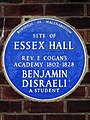 Site of Essex Hall Rev E Cogan's Academy 1802-1828 Benjamin Disraeli a student.jpg