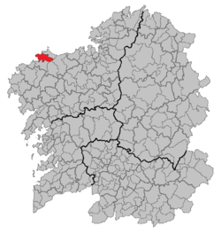 Location of Ponteceso within Galicia