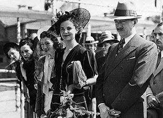 Media of Albania - King Zog and Queen Geraldine Apponyi (here on a picture from 1939) launched Radio Tirana in 1938.