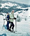 Skiers in the Carpathian mountains.jpg