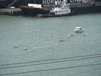Ski to Sea Race - Kayakers in 2007.