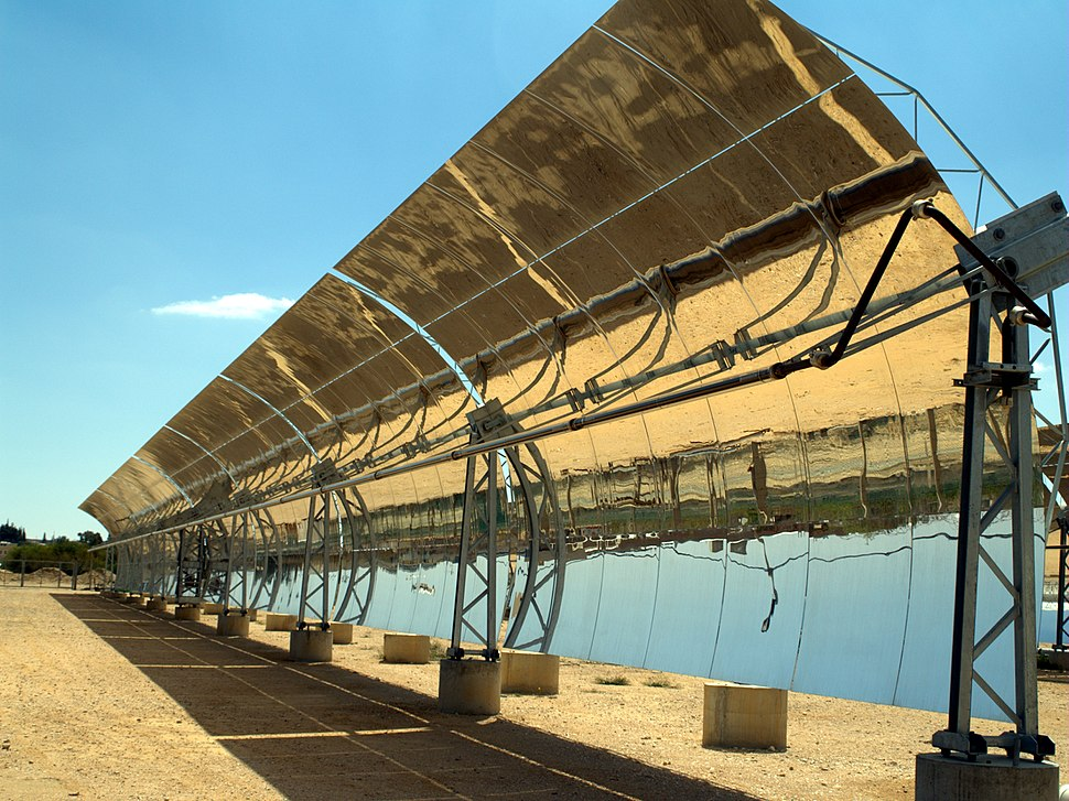 Solar troughs in the Negev desert of Israel