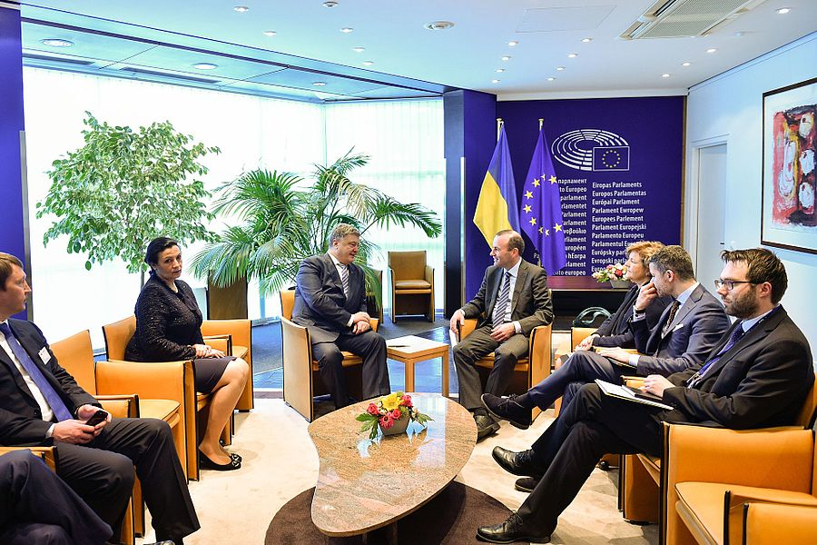 Solemn ceremony of signing the document on visa liberalisation with the EU for Ukrainians 09.jpg